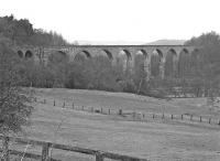 View of Lambley viaduct carrying the Alston branch across the South Tyne, photographed on Saturday 27th March 1976. Not exactly the brightest of days but at least the rain held off!<br><br>[Bill Jamieson&nbsp;27/03/1976]
