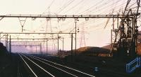 Looking west under the wires from Woodhead in February 1981.<br><br>[Peter Todd&nbsp;01/02/1981]