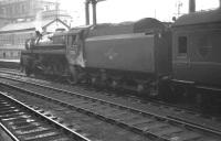 Standard class 5 4-6-0 no 73031 about to take a train out of Birmingham New Street in October 1961.<br><br>[K A Gray&nbsp;07/10/1961]