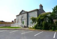 The station building at Downpatrick on 24 May 2008. This is actually the house of the manager of the local gas company, moved from the other side of Market Street and rebuilt. The original station is long demolished, and its site and yards are now buried under a supermarket. [See image 37451]<br><br>[Colin Miller&nbsp;24/05/2008]
