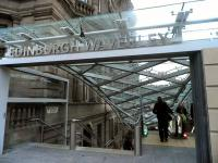 The new Princes Street entrance to Waverley station on 3 February 2012.<br><br>[John Yellowlees&nbsp;03/02/2012]