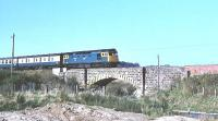 27005 eastbound towards Aberdeen near Pitcaple on 5 May 1980.<br><br>[Peter Todd&nbsp;05/05/1980]
