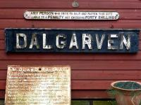 Name board from Dalgarven signal box which stood between Dalry and Kilwinning. Demolished c. 1968. The board is now in the care of the Museum of Ayrshire Life, Dalgarven Mill.<br><br>[Colin Miller&nbsp;//]