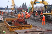 Engineering work underway at Kirkcaldy on Sunday 12 February 2012 [see image 37580].<br><br>[Bill Roberton&nbsp;12/02/2012]