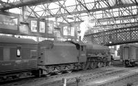 Jubilee no 45558 <I>'Manitoba'</I> at Carlisle on 3 June 1960 with the recently arrived 1.53pm from Glasgow Central.<br><br>[K A Gray&nbsp;03/06/1960]