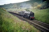 Heaton A1 Pacific no 60116 <I>Hal O' The Wynd</I> with the up 'Queen of Scots' Pullman on the northern approach to Penmanshiel Tunnel in 1959.<br><br>[A Snapper (Courtesy Bruce McCartney)&nbsp;//1959]