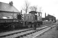 Drewry 204HP 0-6-0DM shunter No. D2329 indulges in the task for which it was designed at the south end of Berwick station in March 1968 - the short bay platform here was used for parcels traffic.<br> <br><br>[Bill Jamieson&nbsp;23/03/1968]