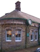 The north corner of the former Alnwick station in February 2012. The main entrance to what is now <I>'Barter Books'</I> is just off picture to the right.<br><br>[Colin Alexander 16/02/2012]