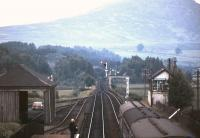 View north from Newtonmore station in 1979.<br><br>[Ian Dinmore&nbsp;//1979]