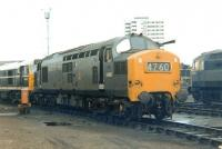 Locomotive fuelling point at Stratford shed in September 1968. EE Type 3 no D6967 is centre stage with Brush Type 2 no D5632 bringing up the rear. Brush Type 4 no D1530 is ambling past in the background. <br><br>[John Furnevel&nbsp;22/09/1968]