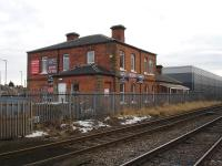 What is believed to be the Leeds Northern Railway's short lived Northallerton Town Station (1852-1856). Photograph taken on 12 February 2012 on the west side of Northallerton's Low Gates level crossing. <br><br>[David Pesterfield&nbsp;12/02/2012]