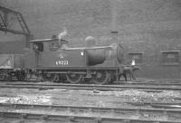 J72 0-6-0T no 69023 simmers in the shed yard at Gateshead in October 1962. This locomotive was subsequently preserved. [See image 58748]<br><br>[K A Gray&nbsp;20/10/1962]