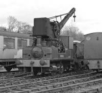 Stanton No. 24, an 0-4-0CT built by Andrew Barclay in 1925 stands in the open air at the Midland Railway Centre, Butterley, in April 1977. <br><br>[Bill Jamieson&nbsp;24/04/1977]