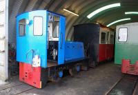 Scene on the Leadhills and Wanlockhead Railway on 15 March 2012 showing <I>Clyde</I> inside the shed. [With thanks to the very helpful and friendly staff.]<br><br>[Bill Roberton&nbsp;15/03/2012]