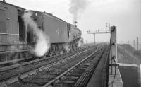 A4 Pacific no 60012 <I>'Commonwealth of Australia'</I> stands at the north end of Heaton Yard in 1963.<br><br>[K A Gray&nbsp;//1963]