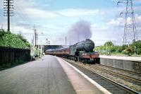 V2 2-6-2 no 60813 runs through Joppa station on 11 July 1959 with a southbound ECML service.<br><br>[A Snapper (Courtesy Bruce McCartney)&nbsp;11/07/1959]