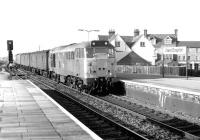 31423 runs through West Drayton in November 1980 with a Paddington bound parcels train. <br><br>[John Furnevel&nbsp;18/11/1980]
