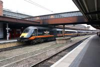 A Grand Central HST arrives at York on 13 March 2012 en route to Sunderland from Kings Cross.<br><br>[John McIntyre&nbsp;13/03/2012]