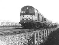 EE Type 1 no D8005 heads south past Acton Wells Junction in March 1969 with a cross-London freight.<br><br>[John Furnevel&nbsp;18/03/1969]