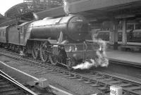 One of York's V2s no 60855 photographed with a train at Newcastle Central around 1960.<br><br>[K A Gray&nbsp;//1960]