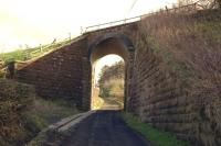 The east facing view of light railway engineering at the Morriston farm bridge, north of Maidens, on 29 February 2012.<br><br>[Colin Miller&nbsp;29/02/2012]