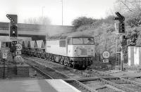 56075 enters Inverkeithing with a southbound coal train on 15 March 1997. Note the barrow crossing in front of the locomotive.<br><br>[Bill Roberton&nbsp;15/03/1997]