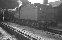 Back end of St Margarets V2 no 60969 photographed on Canal shed, Carlisle, in April 1962. <br><br>[K A Gray 19/04/1962]