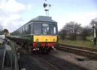 This DMU stabled at Toddington in March 2012 is so nicely restored that it could almost be mistaken for the maker's publicity picture. The cars on the left look a bit too modern though....<br><br>[Ken Strachan&nbsp;18/03/2012]