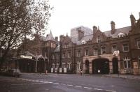 British Railways Headquarters and Marylebone station in November 1985. <br><br>[Ian Dinmore&nbsp;/11/1985]