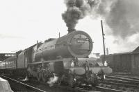 Stanier 'Princess' Pacific no 46200 <I>The Princess Royal</I> with the 10am Euston - Aberdeen at Beattock station on 14 July 1962, approximately four months before eventual withdrawal from Kingmoor shed [see image 20232].<br><br>[R Sillitto/A Renfrew Collection (Courtesy Bruce McCartney)&nbsp;14/07/1962]