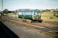 The Beith railbus, AC Cars 79979, photographed at Lugton on 22 August 1959.<br><br>[A Snapper (Courtesy Bruce McCartney)&nbsp;22/08/1959]