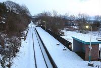 A snowy view south towards Battersby Junction in 2004.<br><br>[Ewan Crawford&nbsp;29/02/2004]