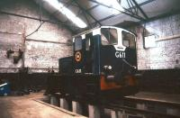 CIE locomotive G611 inside the shed at Limerick in July 1988.<br><br>[Ian Dinmore&nbsp;/07/1988]