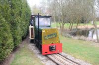Scene on the Statfold Barn Railway on 31 March 2012.<br><br>[Peter Todd&nbsp;31/03/2012]
