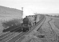 Ardrossan shed's Black 5 no 45456 descending Tarbet Hill near West Kilbride in May 1963.<br><br>[R Sillitto/A Renfrew Collection (Courtesy Bruce McCartney)&nbsp;09/05/1963]
