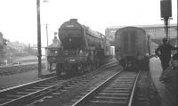 Gresley V2 2-6-2 no 60836 at the south end of Perth station in the 1960s [see image 32575].<br><br>[K A Gray&nbsp;//]