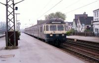 A 3-car push pull set with a Class 140 electric locomotive at the rear enters Lippstadt station in June 1990 bound for Bielefeld.<br><br>[John McIntyre&nbsp;/06/1990]