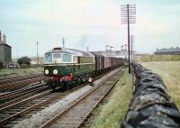 BRCW Type 2 no D5320 at Saughton Junction with a freight about to cross over to the Forth Bridge line in August 1959. The Haymarket locomotive was just over 4 months old at that time.<br><br>[A Snapper (Courtesy Bruce McCartney)&nbsp;27/08/1959]