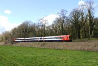 A South West Trains Class 159 DMU photographed near Avoncliff on 12 April 2012 heading for Westbury.<br><br>[Peter Todd&nbsp;12/04/2012]