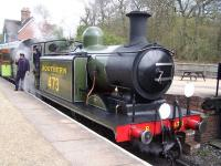 Preserved Class E4 0-6-2T no 473 <I>Birch Grove</I> with a train at Horsted Keynes on 12 April 2012.<br><br>[Colin Alexander&nbsp;12/04/2012]