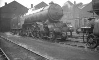 V2 2-6-2 no 60955 photographed in the shed yard at Kingmoor on 18 April 1965 having presumably worked in earlier from Edinburgh. 60955 was withdrawn from St Margarets shed in September the following year. <br><br>[K A Gray&nbsp;18/04/1965]