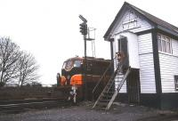 Scene at Limerick Check signal box in April 1996.<br><br>[Ian Dinmore&nbsp;/04/1996]