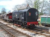 Class 08 no 13236 (latterly BR 08168) on the Bluebell Line at Horsted Keynes on 12 April 2012.<br><br>[Colin Alexander&nbsp;12/04/2012]