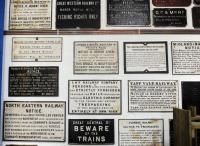 Part of the extensive collection of old railway signs and notices on display at the Statfold Barn Railway. [See image 26339]<br><br>[Peter Todd&nbsp;31/03/2012]