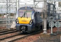 The 08.57 Milngavie - Edinburgh Waverley pulls away from platform 1 at Bathgate on 17 April 2012 on the 4 minute leg to Livingston North. <br><br>[John Furnevel&nbsp;17/04/2012]