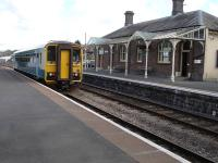 153320 departs Llandrindod Wells on 12 April with the 11.40 Heart of Wales Line service to Shrewsbury. <br><br>[David Pesterfield&nbsp;12/04/2012]