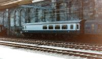 Once the most popular coach on the <I>The Tees-Tyne Pullman</I>, the <I>Hadrian Bar</I> stands in a siding at Carlisle station in March 1983.<br><br>[Colin Alexander&nbsp;/03/1983]