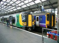 Scene at the buffer stops at Liverpool Lime Street on 19 April 2012.<br><br>[Veronica Clibbery&nbsp;19/04/2012]
