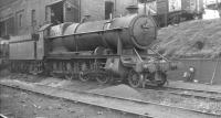 Churchward 2-8-0 no 4702 alongside the coaling stage at Laira, Plymouth, on 5 October 1961. <br><br>[K A Gray&nbsp;05/10/1961]