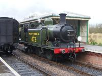 No 473 running round at Kingscote in April 2012.<br><br>[Colin Alexander&nbsp;12/04/2012]